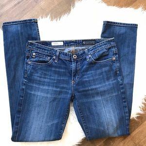 AG the Stevie slim straight blue medium wash jeans